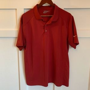 Men's Dark Red Nike Golf Polo- size Large